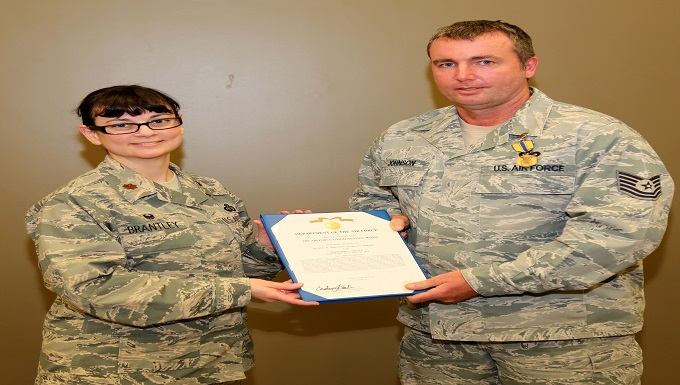 Commendation Medal presented to Johnson